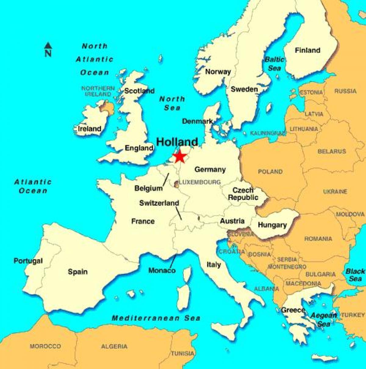 Karta Zapadne Evrope Superjoden